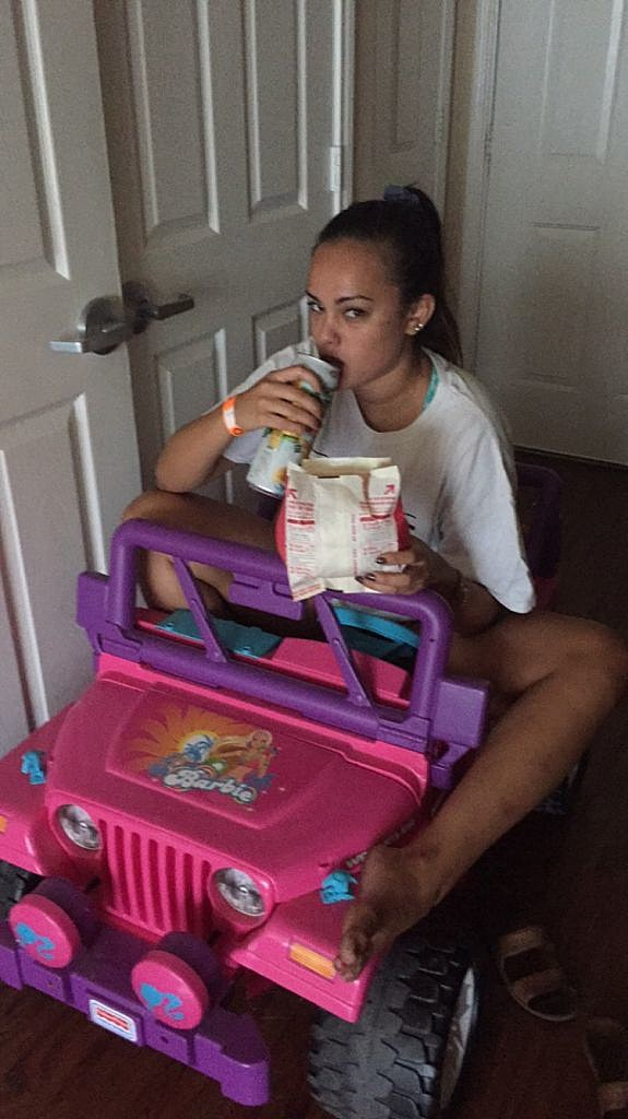 College Student With a DUI Drives Her Barbie Jeep to Class