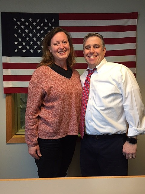"""Ms. Rebecca Geiken appearing on """"QC Veterans' Roll Call"""" radio show with host Jeno Berta."""