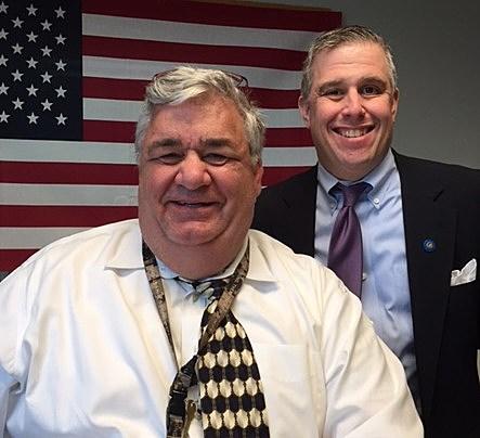 Mr. Kevin Lonergan and Jeno Berta on QC Veterans' Roll Call radio show.
