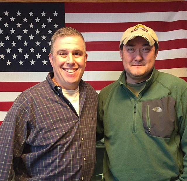 Ken Cunningham and Jeno Berta on QC Veterans' Roll Call Radio Show.