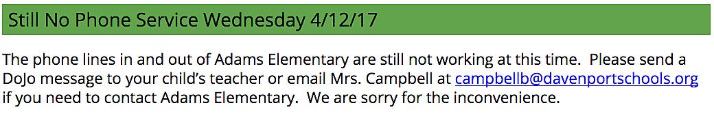 Adams Elementary School