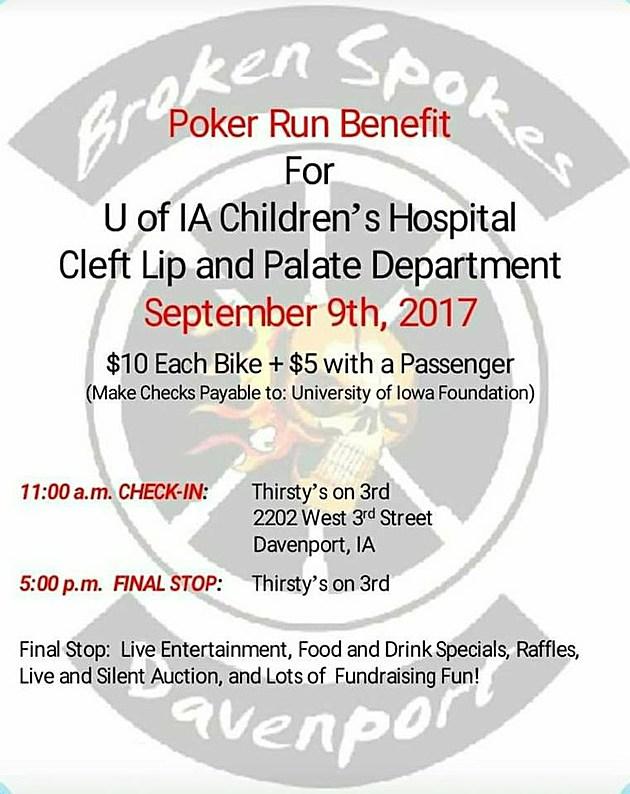 Broken Spokes' Benefit Poker Run for University of Iowa Children's Hospital