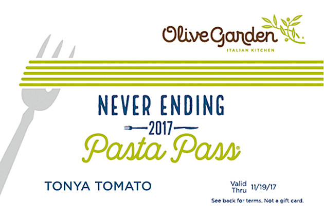 Olive Garden S All You Can Eat Pasta Passes Go On Sale