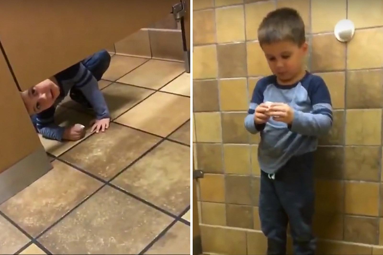 sc 1 st  97X & Curious Kid Crawls Under Bathroom Stall Door